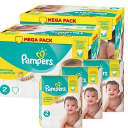 Maxi Pack 440 Couches Pampers new baby - premium protection taille 2 sur Promo Couches