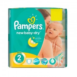 Pack 43 couches Pampers New Baby Dry sur Promo Couches