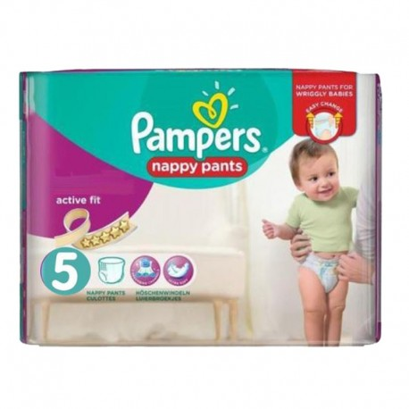 Pack 40 Couches Pampers Active Fit Pants taille 5 sur Promo Couches