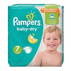 Pack 30 Couches Pampers Baby Dry taille 7 sur Promo Couches