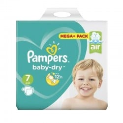 Pack 58 Couches Pampers Baby Dry taille 7 sur Promo Couches