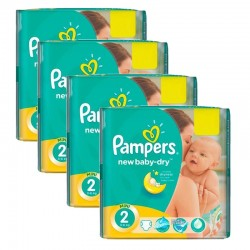 Giga Pack 215 Couches Pampers New Baby Dry taille 2