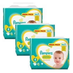 Maxi Pack 246 Couches Pampers New Baby Premium Protection taille 4 sur Promo Couches