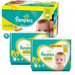 Maxi Pack 328 Couches Pampers New Baby Premium Protection taille 4 sur Promo Couches