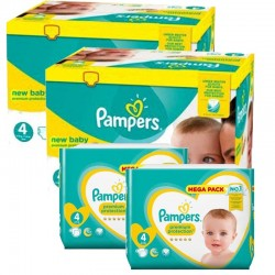 Giga Pack 574 Couches Pampers New Baby Premium Protection taille 4