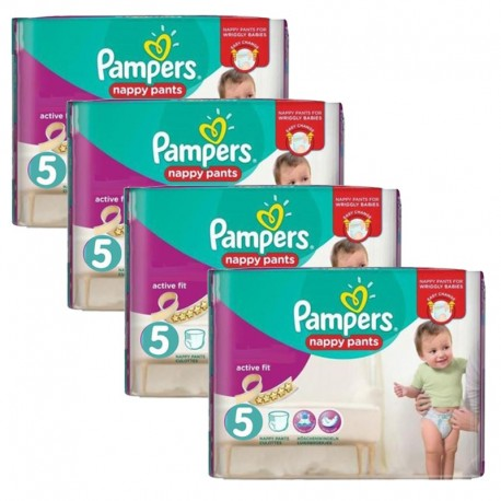 Mega Pack 160 Couches Pampers Active Fit Pants taille 5 sur Promo Couches