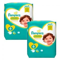 Maxi Pack 111 Couches Pampers New Baby Premium Protection taille 6 sur Promo Couches