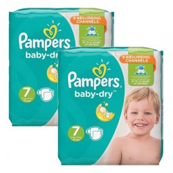 Pack 60 couches Pampers Baby Dry sur Promo Couches