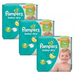 Giga Pack 120 couches Pampers Baby Dry sur Promo Couches