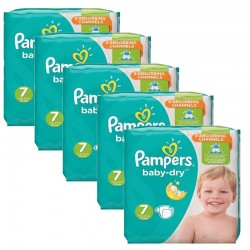 Maxi Mega Pack 210 couches Pampers Baby Dry sur Promo Couches