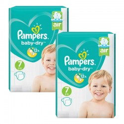 Giga Pack 144 Couches Pampers Baby Dry taille 7 sur Promo Couches