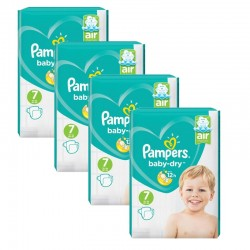 Maxi Mega Pack 216 couches Pampers Baby Dry sur Promo Couches