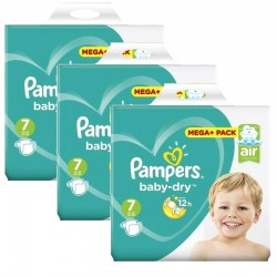 Maxi Pack 174 Couches Pampers Baby Dry taille 7 sur Promo Couches