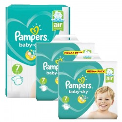 Mega Pack 232 Couches Pampers Baby Dry taille 7 sur Promo Couches