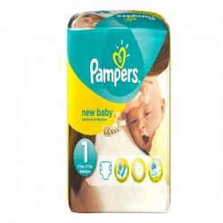 Pack 56 Couches Pampers New Baby taille 1
