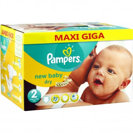Giga pack 258 Couches Pampers New Baby Dry sur Promo Couches