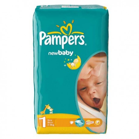 Pack 43 Couches de la marque Pampers New Baby Dry de taille 1 sur Promo Couches