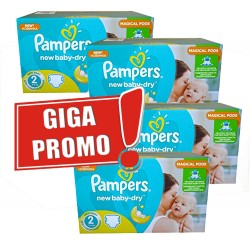 Maxi giga pack 387 Couches Pampers New Baby Dry sur Promo Couches