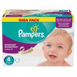 Maxi giga pack 328 Couches Pampers Active Fit Premium Protection taille 4 sur Promo Couches