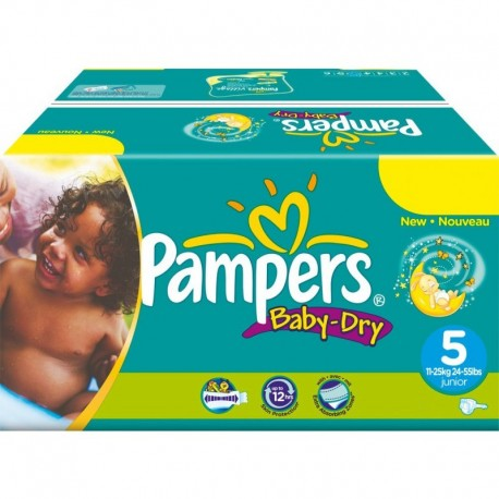 Maxi mega pack 432 Couches Pampers Baby Dry sur Promo Couches