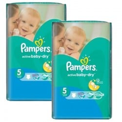 Maxi mega pack 406 Couches Pampers Active Baby Dry