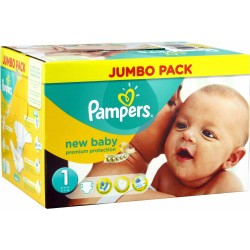 Pack 280 Couches de la marque Pampers New Baby taille 1