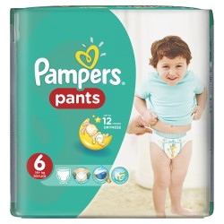Pack 14 Couches Pampers Baby Dry Pants taille 6 sur Promo Couches