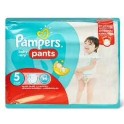 Pack 96 Couches Pampers Baby Dry Pants taille 5