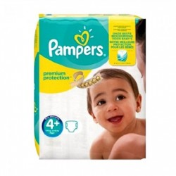 Pack 50 Couches Pampers New Baby Premium Protection taille 4+ sur Promo Couches