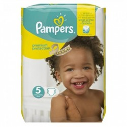 Pack 30 Couches Pampers New Baby Premium Protection taille 5 sur Promo Couches