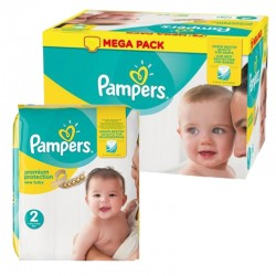 Pack 93 Couches Pampers New Baby Premium Protection taille 2 sur Promo Couches