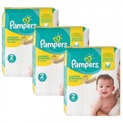 Giga pack 248 Couches Pampers New Baby Premium Protection taille 2 sur Promo Couches