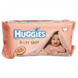 Pack 64 Lingettes Bébés Huggies Soft Skin