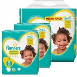 Maxi giga pack 390 Couches Pampers New Baby Premium Protection taille 5 sur Promo Couches