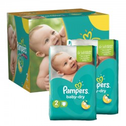 Mega pack 184 Couches Pampers Baby Dry taille 2 sur Promo Couches