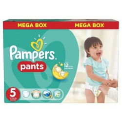 Pack 66 Couches Pampers Baby Dry Pants taille 5 sur Promo Couches