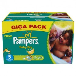 Mega pack 110 Couches Pampers Baby Dry taille 5