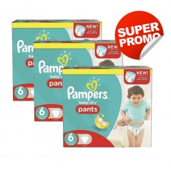 Pack 28 Couches Pampers Baby Dry Pants taille 6 sur Promo Couches