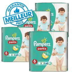 Pack 42 Couches Pampers Baby Dry Pants taille 6 sur Promo Couches