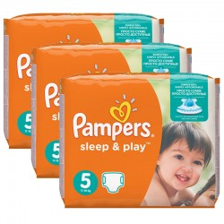 Maxi mega pack Maxi mega pack Couches Pampers Sleep & Play taille 5