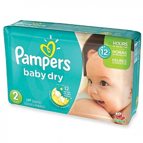 Couches Pampers Baby Dry Taille 2 En Solde 290 Couches Sur Promo